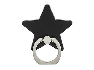 Jet Black Star Universal Premium Smartphone Mount Ring Hook