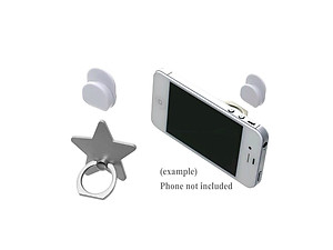 Silver Star Universal Premium Smartphone Mount Ring Hook