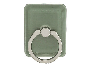 Green Square Gold Crown Rhinestone Safety Ring & Portable Stand