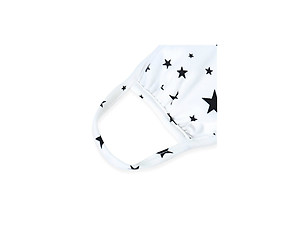 White Star Print Reusable T-Shirt Cloth Face Mask