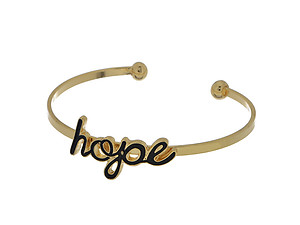 Goldtone Hope Cuff Bracelet
