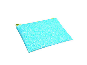 Colorful & Fun Glitter Jewel & Acrylic Accented Top Zipper Fashion Clutch ~ Style 6180