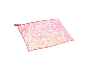 Colorful & Fun Glitter Jewel & Acrylic Accented Top Zipper Fashion Clutch ~ Style 6181