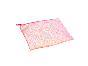 Colorful & Fun Glitter Jewel & Acrylic Accented Top Zipper Fashion Clutch ~ Style 6186