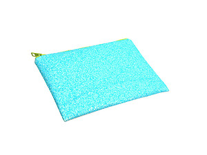 Colorful & Fun Glitter Jewel & Acrylic Accented Top Zipper Fashion Clutch ~ Style 6190