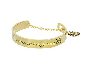 Goldtone Whatever You Are Be A Good One Message Toggle Bracelet