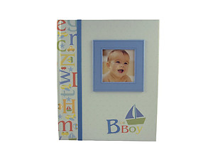 C.R. Gibson B is for Boy Keepsake Memory Book of Baby's First Year