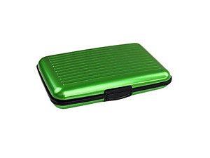 Green Aluminum Wallet Credit Card Holder With RFID Protection
