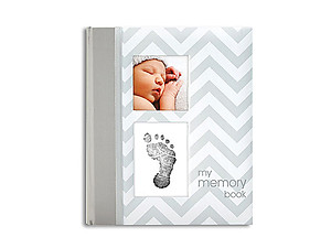 Pearhead Chevron Gray My Memory Baby Book