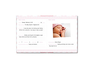 Pearhead Chevron Pink My Memory Baby Book