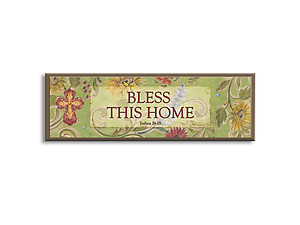 Bless This Home Inspirational Wood Mini Plaque