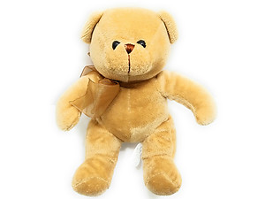 Light Brown Bear with Bow, 7.5