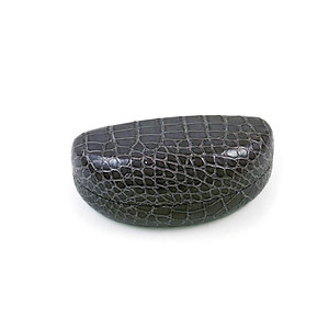 Gray Snakeskin Pattern Clamshell Eyeglass / Sunglass Case