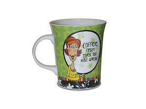 Cheeky Chic: Ceramic Mug - Coffee First