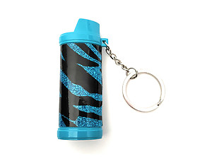 Colorful Lifestyle Metallic Metal Lighter Case Cover Holder Key Chain w/ LED