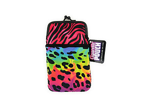 Colorful & Fun Neoprene Cigarette Pouch with Zipper Pocket ~ Style 127E