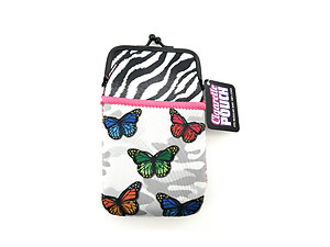 Colorful & Fun Neoprene Cigarette Pouch with Zipper Pocket ~ Style 128E