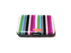 Colorful Aluminum Wallet Credit Card Holder ~ Style 613D