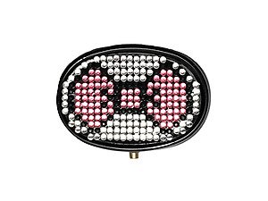 Rhinestone Small Oval Light Up Two Compartment Pill Organizer Case Box ~ Style 711C