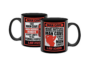 Man Cave Coffee Mug ~ Man Cave Laws