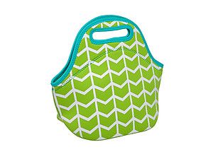 Lime Insulated Neoprene Reusable Lunch Bag