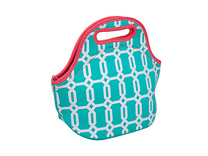 Turquoise Insulated Neoprene Reusable Lunch Bag