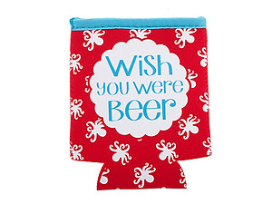 Wish You Were Beer Neoprene Coozie