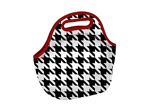 Insulated Neoprene Reusable Lunch Bag (Houndstooth)
