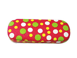 Red Polka Dots Small Hard Sunglasses / Eyeglasses Case