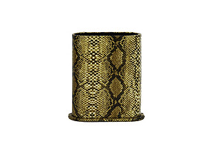 Tan Snakeskin Design Desktop Eyeglass Holder