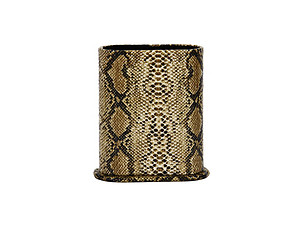 Brown Snakeskin Design Desktop Eyeglass Holder