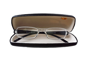 Black Hard Case Small Sunglasses / Eyeglasses Case