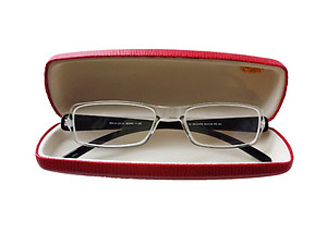 Red Hard Case Small Sunglasses / Eyeglasses Case