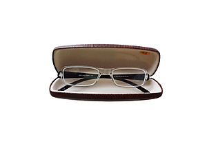 Brown Hard Case Small Sunglasses / Eyeglasses Case