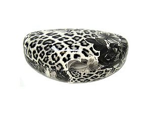 Glossy Flower & Animal Print Hard Clamshell Eyeglass / Sunglass Case