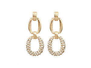 Goldtone Metal Bold Chain Drop Earrings