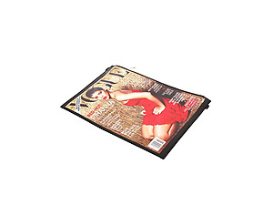 Red-Hot Magazine Print Fashion Clutch Bag
