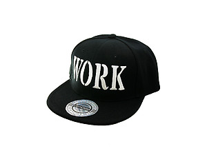 Work Black Celebrity Style Snapback Hat Cap for Men and Women