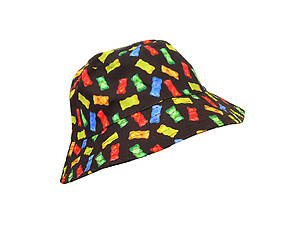 Black Jelly Pattern Fashion Bucket Hat