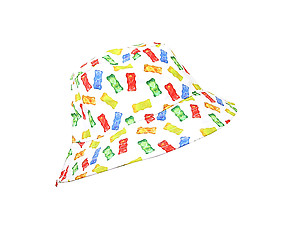 White Jelly Pattern Fashion Bucket Hat