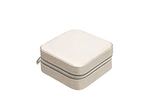 Silver Portable Travel Jewelry Storage Box