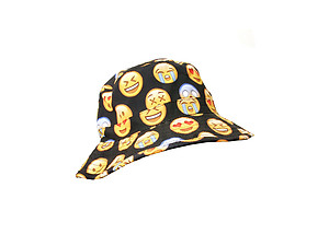 Black Emoji Face Fashion Bucket Hat