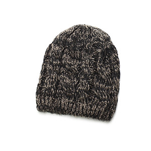 Brown Unisex Thick Winter Knit Beanie Hat Cap Headgear