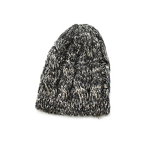 Beige Unisex Thick Winter Knit Beanie Hat Cap Headgear