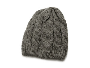 Gray Basic Thick Winter Knitted Fashion Beanie Hat Cap Headgear