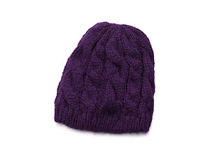 Purple Basic Thick Winter Knitted Fashion Beanie Hat Cap Headgear