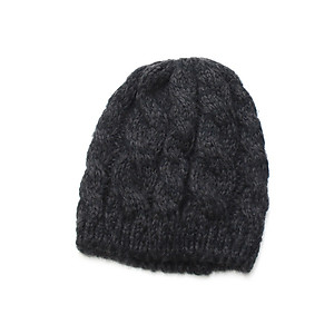 Black Unisex Thick Winter Knit Beanie Hat Cap Headgear