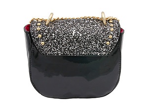 Small Glitter Vegan Leather Cross Body Messenger Bag