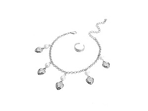 Adjustable Drop Pearls Anklet