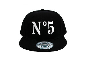 No 5 Black Celebrity Style Snapback Hat Cap for Men and Women